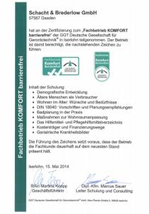 schacht-brederlow-mde-zertifikat-2014-sb-fachbetrieb-komfort-barrierefrei-ggt